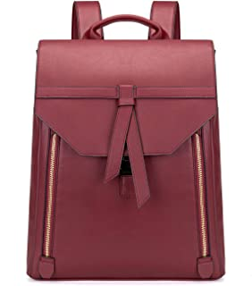 Women Fashion Leather Backpack for Travel Work College 15.6inch Ladies PU Leather Backpack