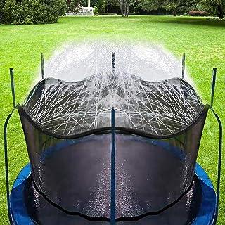 Bobor Trampoline Sprinkler for Kids, Outdoor Trampoline Backyard Water Park Sprinkler Fun Summer Outdoor Water Toys for Boys Girls. (39ft)