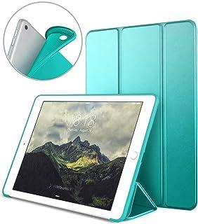 "Funda para Nuevo iPad 9.7"" 2018/2017, VAGHVEO Cubierta Estuche Plegable [Auto-Sueño/Estela] Carcasa TPU Suave Smart Cover para Apple iPad 5ª/6ª Generacion (A1893/A1954/A1822/A1823), Menta Verde"