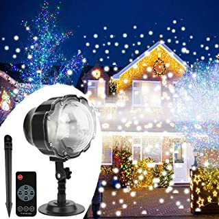 syslux led snowfall projector lights