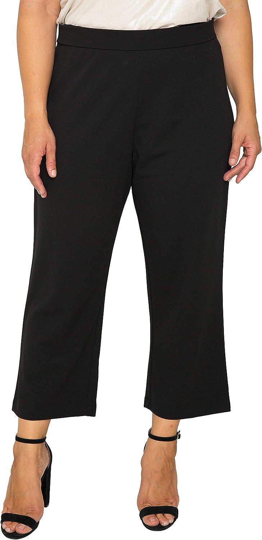 Standards & Practice Plus Size Women's Black High Waist Stretch Crepe 23