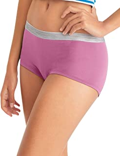 Hanes Women's Cool Comfort Microfiber Panties-Boyshorts, Briefs, Or Hipster Fit Available