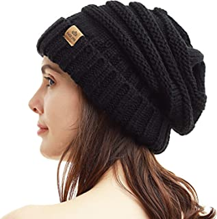 Womens Winter Beanie Warm Cable Knit Hat Style Stretch Trendy Ribbed Chunky Cap