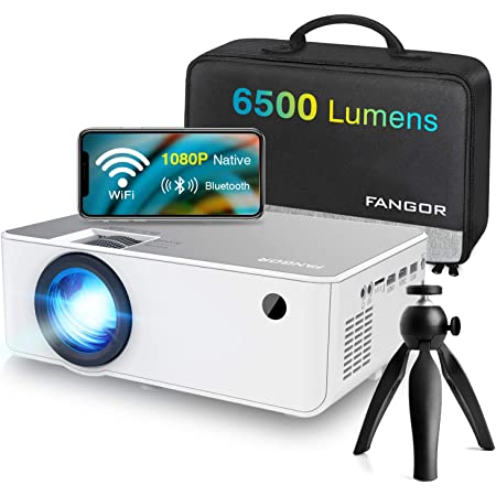 "1080P HD Projector, WiFi Projector Bluetooth Projector, FANGOR 6500 Lumen 230"" Portable Movie Projector, Home Theater Video Projector Compatible with TV Stick, HDMI, VGA, USB, Laptop, iOS & Android"