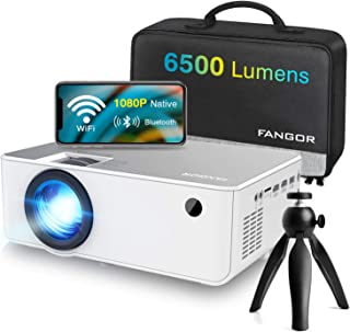 "1080P HD Projector, WiFi Projector Bluetooth Projector, FANGOR 6500 Lumen 230"" Portable Movie Projector, Home Theater Vide..."