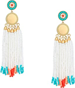 Luna Statement Beaded Earrings