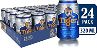 Tiger Lager Beer Can Tray, 320ml (Pack of 24)