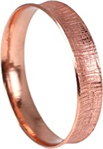 Linen Anticlastic Copper Bangle Bracelet - Handmade Copper Jewelry - Anti-Tarnish