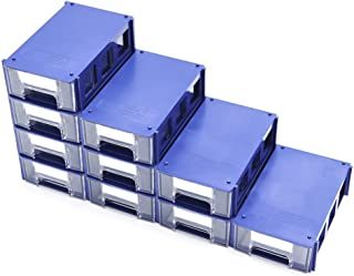 $26 » Stackable Plastic Small Parts Hardware and Craft Storage Drawers, Set of 10; Modular, Fits on Desktops, Able to Assemble i...