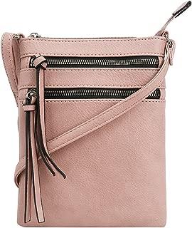   Crossbody Purse Bag   Functional Multi Pocket Double Zipper Purse   Adjustable Strap   Medium Size Purse