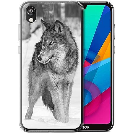 Coque pour Huawei Honor 8S/Y5 2019 Animaux de Zoo Loup Désign Transparent Doux Silicone Gel/TPU Souple Etui Housse Case