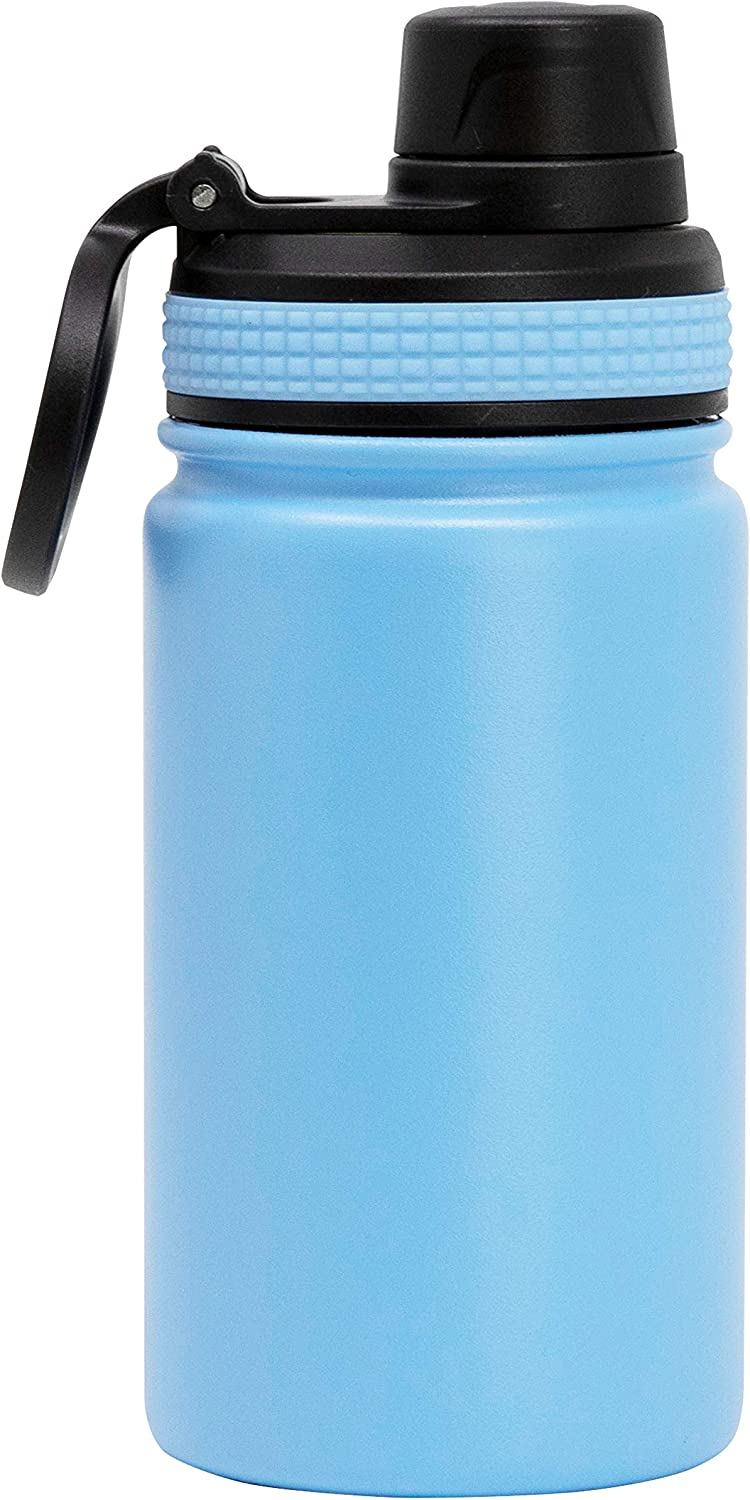 MIRA 12 oz Stainless Steel Kids Water Bottle - Metal Thermos Flask Keeps Cold for 24 Hours, Hot for 12 Hours - Double Wall Vacuum Insulated - Leak Proof BPA-Free Lid - Sky