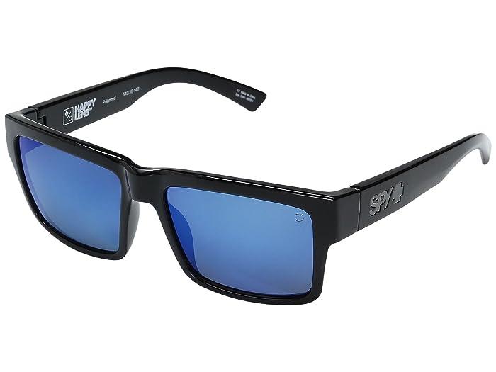 Spy Optic Montana (Black/HD Plus Gray Green Polar w/ Dark Blue Spectra) Plastic Frame Sport Sunglasses
