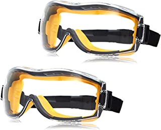 AmazonBasics Safety Goggle - Anti-Fog, Clear Lens and Elastic Headband, 2-Count