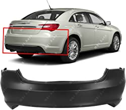 MBI AUTO - Primered, Rear Bumper Replacement for 2011-2014 Chrysler 200 Sedan 11-14, CH1100964