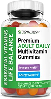 Premium Essential Multivitamin with Vitamins C & Zinc for Immune & Energy Support | Delicious Complete Daily Vitamin Gummy...
