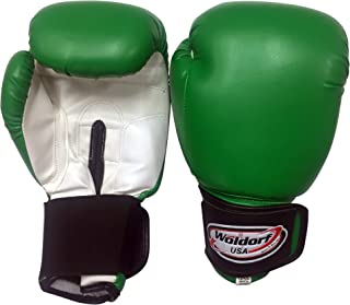 Water Resistant Nylon Boxing Gloves Kickboxing Muay Thai Punching Bag Gloves Vinyl Green - Durable Boxing Gloves - Multi Layered Foam Padding Offers Unbeatable Men Women Fight Gloves