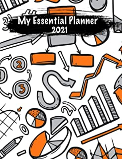 My Essential Planner 2021: Accounting Saving Money Monthly ,Tracker or Follow up the daily household expenses And More...