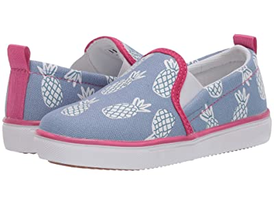 Hatley Kids Party Pineapples Slip-On Sneakers (Toddler/Little Kid) (Blue) Girl