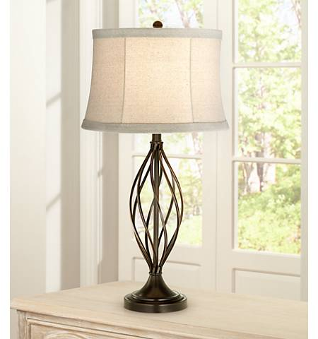 Liam Iron Twist Bronze Table Lamp - #7G545 | Lamps Plus
