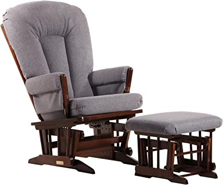 featured product Dutailier C00-62B-62-3128 Colonial Glider Ottoman Combo Dark Grey