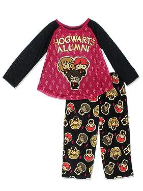 Harry Potter Hogwarts Girls Long Sleeve Pajamas Set