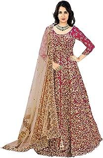 Ultimate Ecommerce Women's Pink silk Fashionable Semi-Stitchedi Salwar Suit (Ultimate_UE11144_Pink_Free Size)