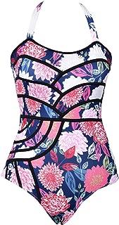 Women's Colourful Fireworks Print One-Piece Swimsuit Beach Swimwear