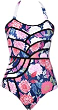 CUPSHE Women's Colourful Fireworks Print One-Piece Swimsuit Beach Swimwear