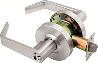 Dynasty Hardware AUG-00-26D Grade 2 Commercial Duty Office Door Keyed Lever Lockset, ADA, Satin Chrome Finish