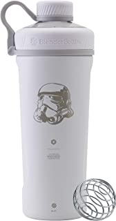BlenderBottle Star Wars Radian Shaker Cup Insulated Stainless Steel Water Bottle with Wire Whisk, 26-Ounce, Stormtrooper