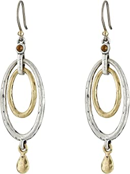 Lucky Brand Mary Jane Oval Orbital Earrings