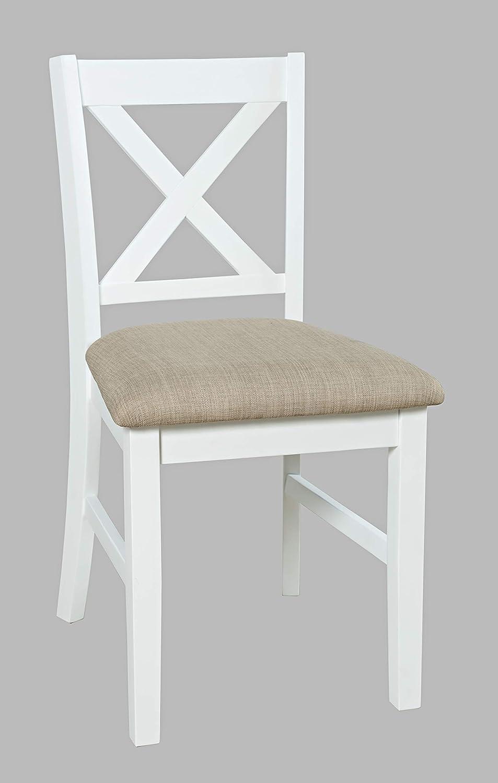 Jofran Inc. Hobson X-Back Desk Chair, White
