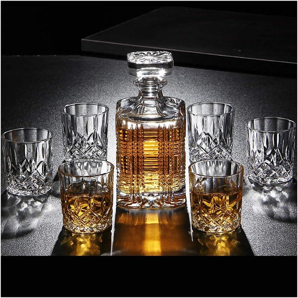 LSRRYD 7 Piezas Conjunto De Botella De Whisky Cristal 100 ...