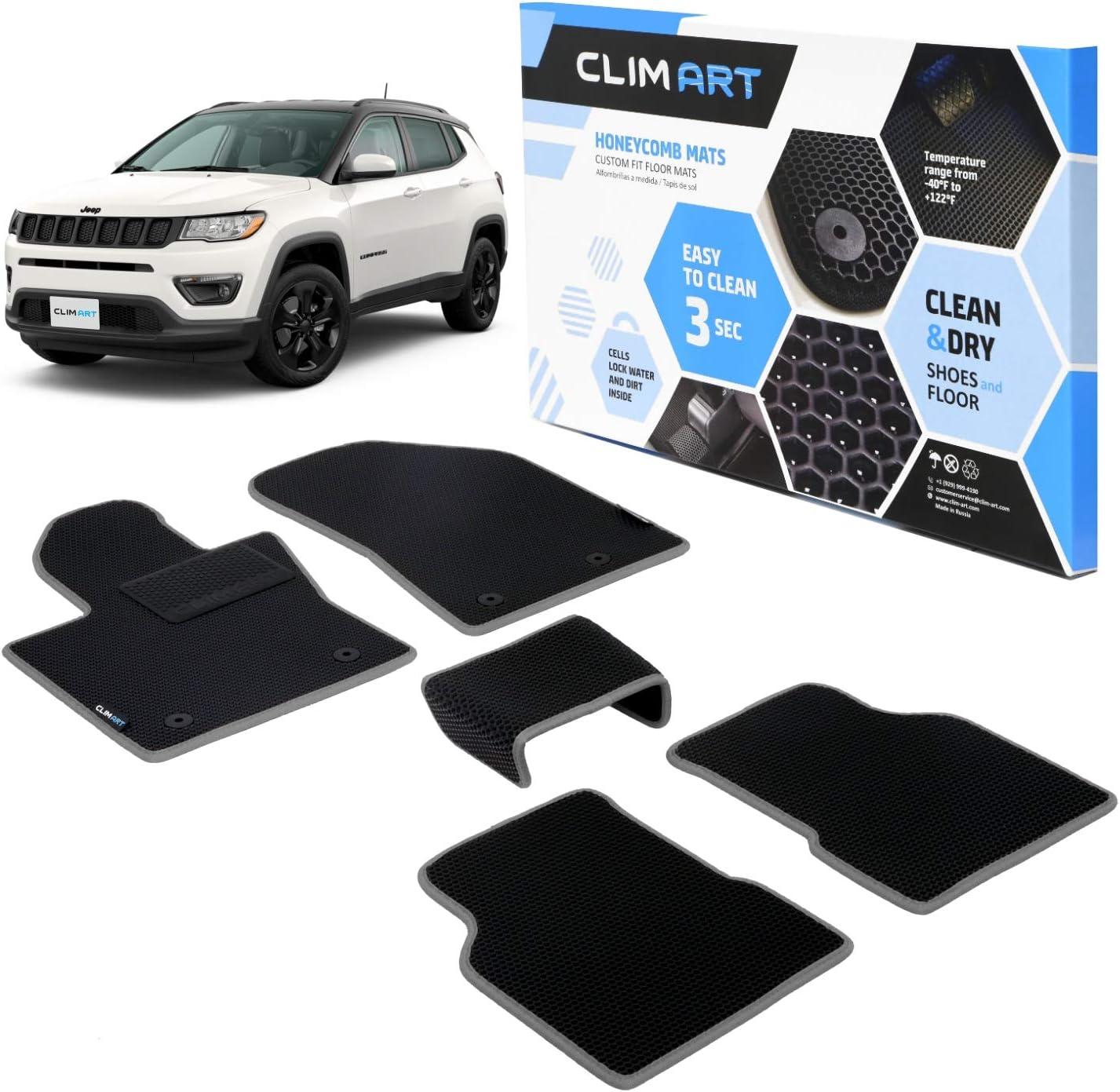 Genuine Max 78% OFF CLIM ART Honeycomb Custom Fit Floor Jeep Mats Compass 2017-2 for