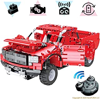 KareFLASH Red Pickup | 549 Building Blocks Compatible...