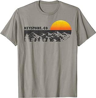 Retro Keystone Colorado Mountain Sunset T-Shirt