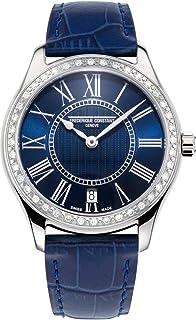 Frederique Constant Classics Quartz Diamond Blue Dial Watch FC-220MN3BD6