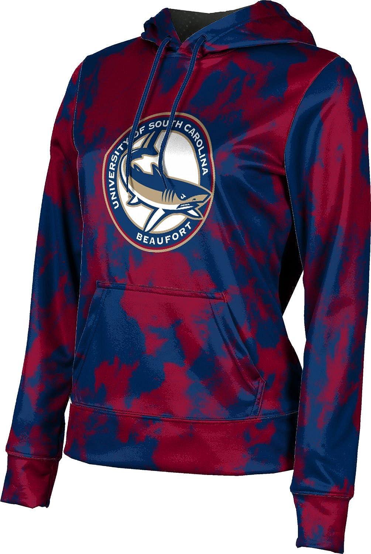 University of South Carolina Beaufort Girls' Pullover Hoodie, School Spirit Sweatshirt (Grunge)