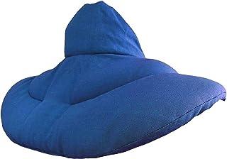 Coussin de nuque avec col montant - Bleu - Coton Bio - Coussin aux noyaux de cerises - Coussin épaules et cou