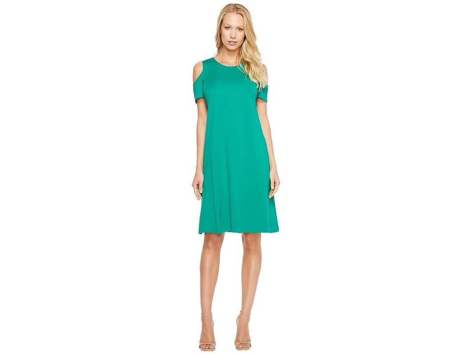 Ellen Tracy Open Shoulder Dress (Palm) Women