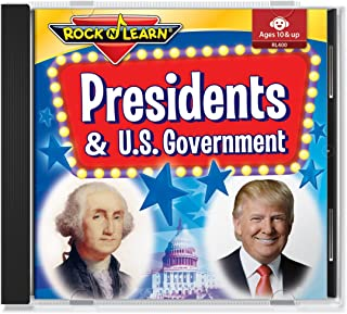 Presidents & U.S. Government Audio CD with Printable Book by Rock 'N Learn