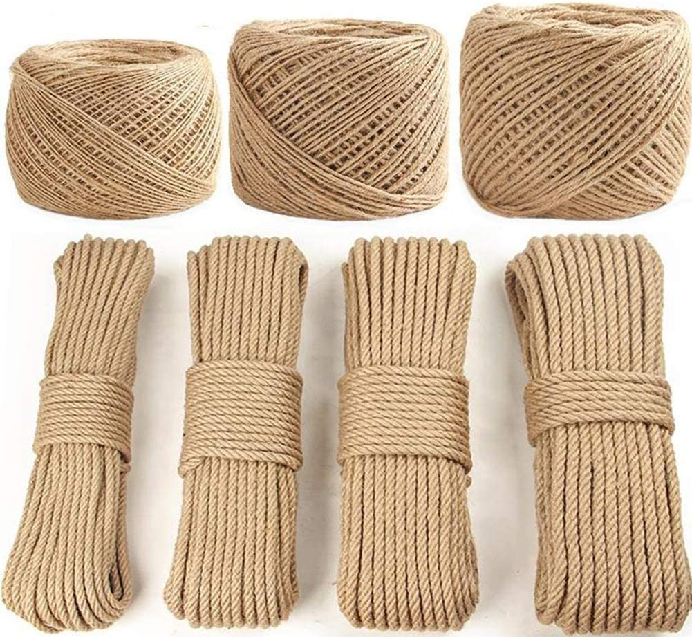 LSYOA Jute Rope 50m Natural Twisted Hemp Tampa Mall Popular shop is the lowest price challenge S Multifunctional