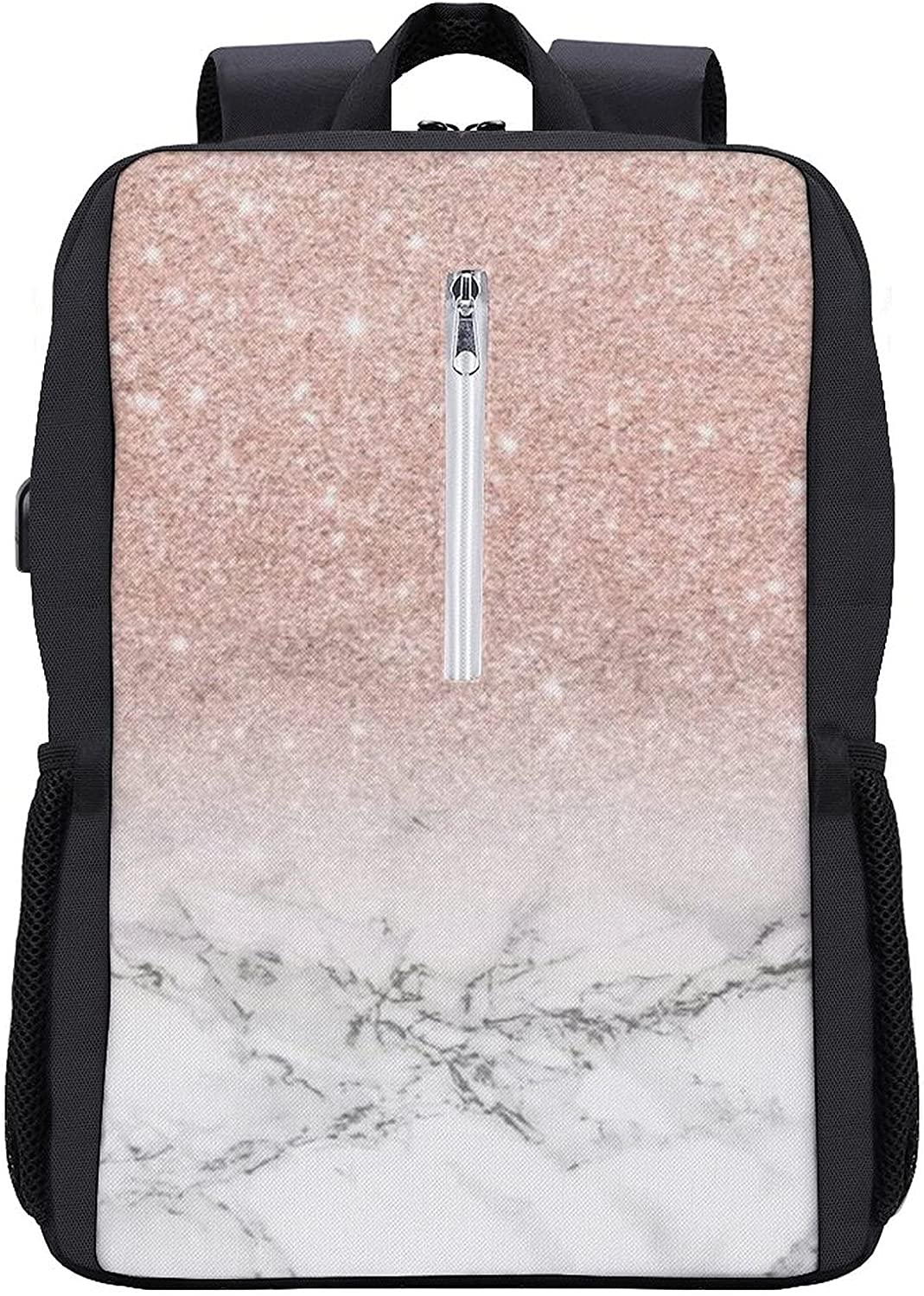 Fashion Double Backpack With Max 43% OFF USB School Sales for sale Bag Interface 16 Bookbag