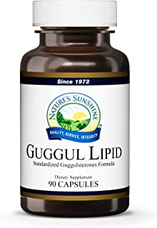 Nature's Sunshine Guggul Lipid Concentrate, 90 Capsules   Supports The Circulatory System, Helps Maintain Cholesterol Levels, and Contains Standardized Guggulsterones