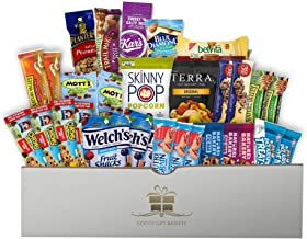 Healthy Snacks Care Gift Package (30 Pieces) - Coco's Gift Baskets. Perfect for Colleges, Trips, Kids, Military, Office, Meetings, Hospitals. 1-Year Guarantee.