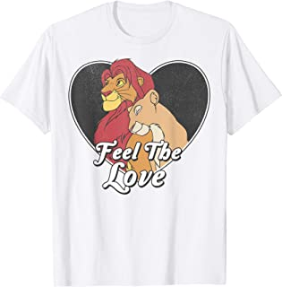 Lion King Simba Nala Feel The Love Heart T-Shirt