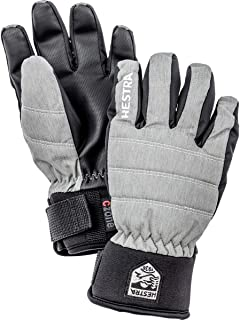 Hestra Ski Mittens for Kids: Youth All Mountain Waterproof C-Zone Primaloft Winter Cold Weather Glove