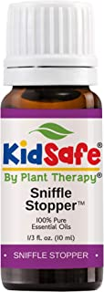 Plant Therapy Essential Oils Sniffle Stopper Synergy - Respiratory Support Blend 100% Pure, KidSafe, Undiluted, Natural Aromatherapy, Therapeutic Grade 10 mL (1/3 oz)