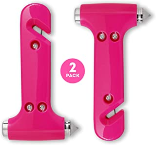 Super-Cute Safety Hammer, Emergency Escape Tool with Car Window Breaker and Seat Belt Cutter, Life Saving Safety & Survival Kit for Women's Safety, Family, Child Rescue